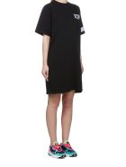 GCDS Logo T-shirt Dress - Nero bianco