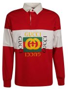 Gucci Logo Print Polo Shirt - Red
