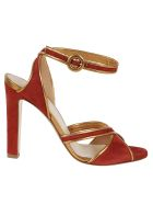 Francesco Russo Suede / Nappa Leather Sandals - Rust Old Gold
