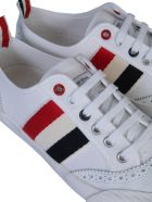 Thom Browne Low Top Brogued Trainer Sneaker - White