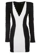 Balmain Knitted Dress - Eab Noir/blanc