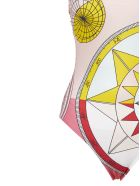 Tory Burch Compass Print Swimsuit - Rosa multicolor