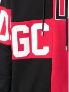 GCDS Red And Black Cotton Hoodie - Rosso