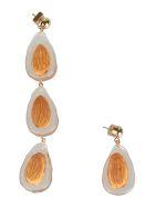 Jacquemus Crystal Loop Earrings - Clear/Brown