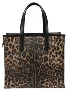 Dolce & Gabbana Leopard Shopper Bag - leopard print