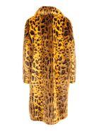 STAND STUDIO 'maxine' Modacrylic Coat - Yellow Leo