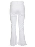 Frame Flared Cropped Jeans - White