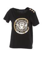Balmain 3 Buttons Logo Coin T-shirt - Black