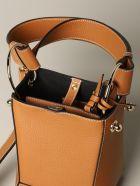 Strathberry Shoulder Bag Strathberry Nano Wool Bag In Textured Leather - beige