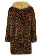 Alessandra Chamonix Charlotte Leopard Coat - Brown/Black