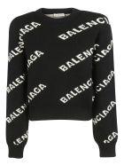 Balenciaga Logo Sweater - Black White