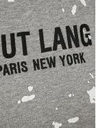Helmut Lang Paint-splattered T-shirt - GREY