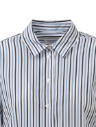 Equipment Essential Striped Shirt - White/blue