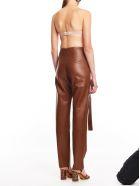 MATÉRIEL Leather Pants W/ Slits - Cognac Cgnc