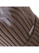 Woolrich Fur Pom Pom Hat - CAMEL