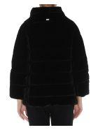 Herno Velvet Effect Down Jacket - Black