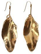 Marni 'foglia' Earrings - Gold