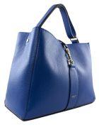 Avenue 67 Annetta Blue Leather Bag - Bluette