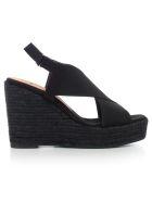 Castañer Elasticated Strap Wedge Sandals - Negro
