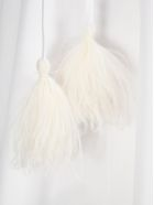 Valentino Ostrich Feather Embellished Shirt - WHITE