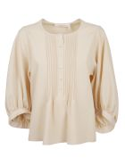 See by Chloé Pleated Flare Blouse - Basic