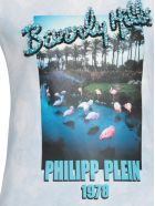 Philipp Plein T Shirt With Applications - LIGHT BLUE