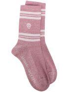 Alexander McQueen Socks Stripe Skull - Roseate/pink