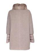 Moorer padded coat made of a mix of fabrics - Beige