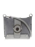 Marc Ellis Shoulder Marc Ellis Berenice Shoulder Bag In Grey Suede