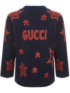 Gucci Junior Cardigan - Red/blue