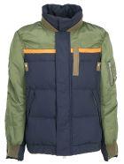 Sacai Twill Down Jacket - Khaki/navy
