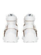 Miu Miu Crystal Embellished Sneakers - WHITE