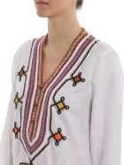 Tory Burch Embroidered Top - White