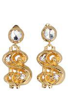 Moschino 'dollar' Earrings - Gold