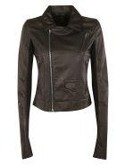 Rick Owens Zipped Biker Jacket - black