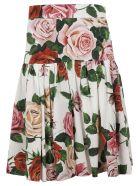 Dolce & Gabbana Floral Skirt - pink