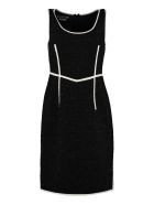 Boutique Moschino Virgin Wool Sheath Dress - black