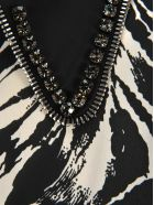 N.21 N21 Crystals Embellished Zebra Dress - ZEBRA WHITE