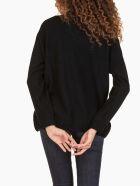 Ballantyne R Neck Pullover Intarsia - Black