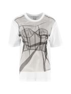 Alexander McQueen Printed Cotton T-shirt - White