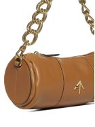 MANU Atelier Xx Mini Cylinder Leather Bag - Sand