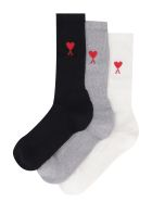 Ami Alexandre Mattiussi Set Of Three Socks - Multicolor