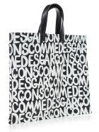 Comme des Garçons Shopping Bag W/written - Black