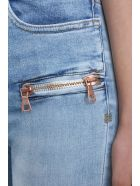 Ben Taverniti Unravel Project Stone 25 Lace Up Skinny Jeans - blue