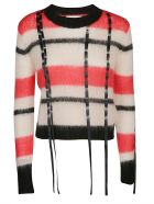 3.1 Phillip Lim Knit Sweater - BLUSH - RED - BLACK