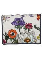 Gucci Floral Print Card Case - White