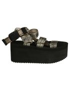 Moschino Nastro High Platform Sandals - Black