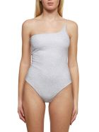 Oseree Glittered Swimsuit - Silver