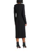 Parosh Long Dress With Draping - Nero