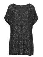 Saint Laurent Paillettes Blouse - Metallic